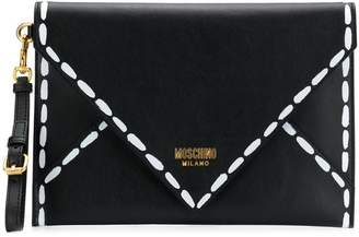 Moschino clutch with stitching print