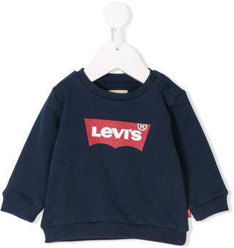 Levi's Kids logo printed sweatshirt