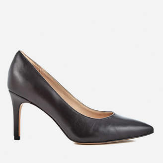 Clarks Women's Dinah Keer Leather Court Shoes - Black