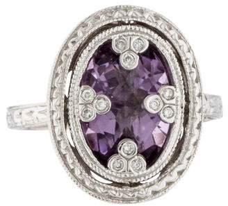 Jude Frances 18K Amethyst & Diamond Cocktail Ring