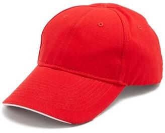 Balenciaga Europa! Embroidered Cotton Cap - Mens - Red