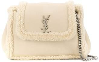Saint Laurent nolita shearling shoulder bag