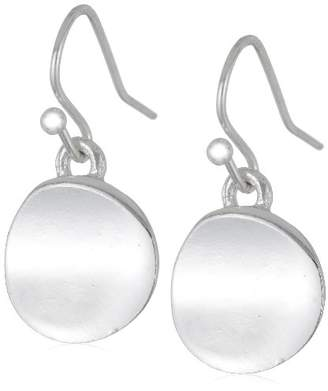 """Kenneth Cole New York Shiny Earrings"""" Small Silver Circle Drop Earrings"""