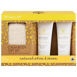 Butter Shoes Ecopure Calm Body Gift Set Natural Shea & Cocoa 3 pack