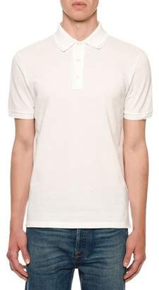 Valentino Men's Rockstud-Trim Polo Shirt