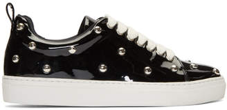 Marques Almeida Black Patent Studded Sneakers