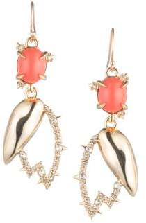Alexis Bittar 10K Gold Crystal Coral Tulip Earrings