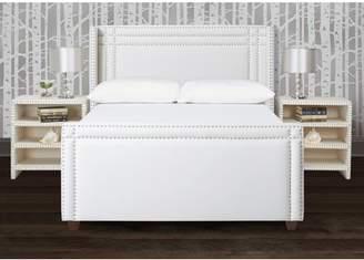 Jennifer Taylor Elle Upholstered Bed, Queen, Antique White