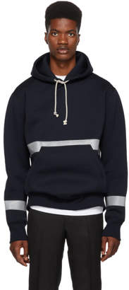 Junya Watanabe Navy Comme des Garcons Edition Reflector Hoodie