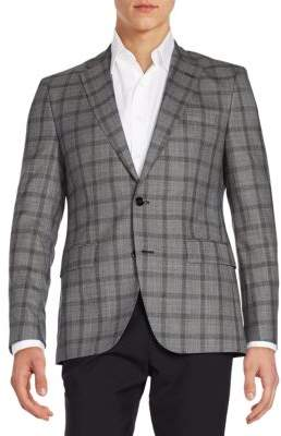 Hugo Boss Jayden Windowpane Check Virgin Wool Sportcoat