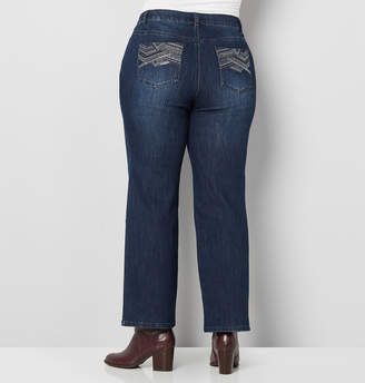 Avenue Stitched Back Pocket Bootcut Jean