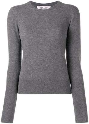 Diane von Furstenberg 100% cashmere melange pullover