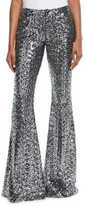 Alexis Harmon Sequin Wide-Leg Pants