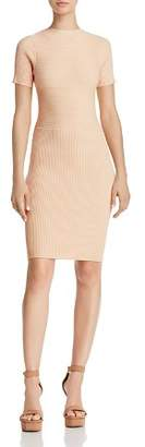 Olivaceous Tie-Back Rib-Knit Dress