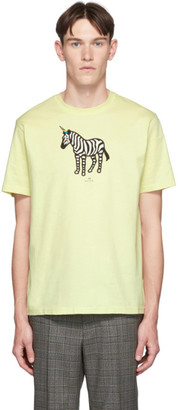 Paul Smith SSENSE Exclusive Yellow Zebra Regular Fit T-Shirt