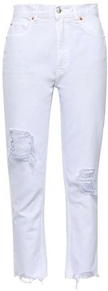 IRO Edwin Cropped Distressed High-rise Straight-leg Jeans