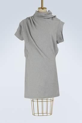 Maison Margiela Asymmetric sweatshirt dress