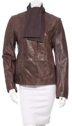 MM6 MAISON MARGIELA MM6 by Maison Martin Margiela Distressed Leather Jacket