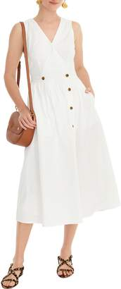 J.Crew Sleeveless Cotton Poplin A-Line Shirtdress