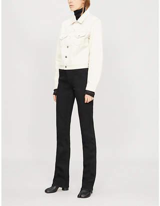 Helmut Lang Contrast stitched denim jacket