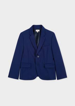 Paul Smith Boys' 2-6 Years Cobalt Blue 'A Suit To Smile In' Wool Blazer