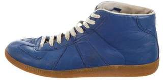 Maison Margiela Round-Toe High-Top Sneakers