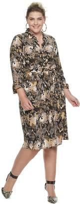 JLO by Jennifer Lopez Plus Size Shirt Dress
