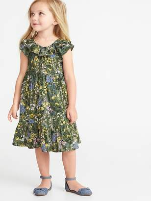 e567ee33aee8e Old Navy Floral Tiered Swing Dress for Toddler Girls