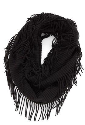 BP. Rib Knit Fringe Infinity Scarf $19 thestylecure.com