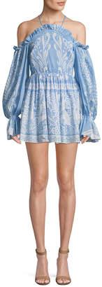 Alice McCall Oh Deer Me Off-The-Shoulder Mini Dress
