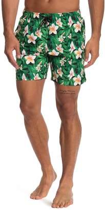 Franks Floral Patterned Mid Length Swim Trunks