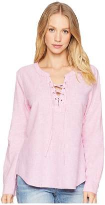 Sanctuary Tommie Lace-Up Shirt Women's Long Sleeve Pullover