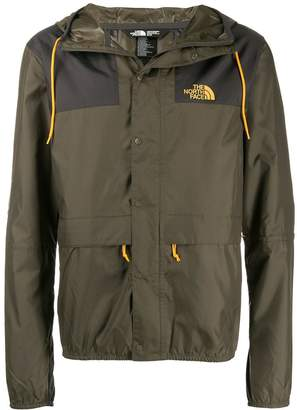 The North Face logo print hooded jacket
