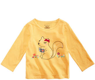 First Impressions Toddler Girls Squirrel Graphic Cotton T-Shirt, Created for Macy's