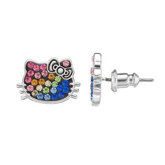 Hello Kitty Kids' Crystal Stud Earrings
