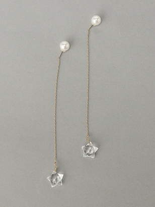 Amina (アミナ) - amiinah Star-stone pierced errings(L) アミナ アクセサリー