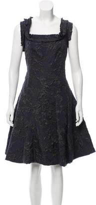 Lanvin Sleeveless Jacquard Dress