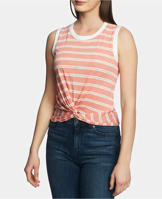1 STATE 1.state Striped Twist-Hem Top