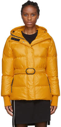 Kenzo Orange Down Short Belted Puffa Jacket