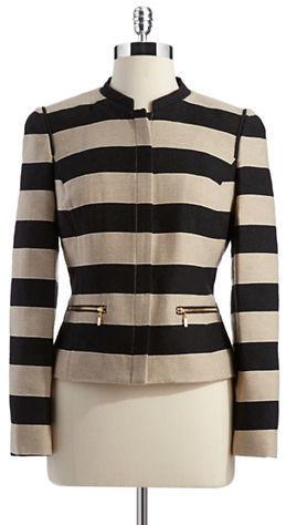 Anne Klein PETITE Petite Striped Blazer