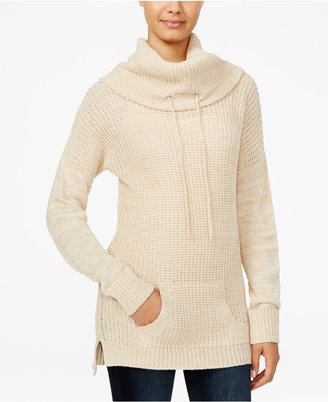 Planet Gold Juniors' Cowl-Neck Sweater Tunic $44 thestylecure.com