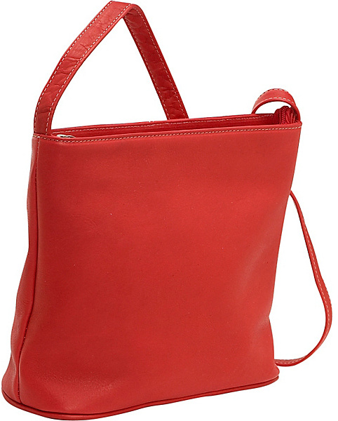 Le Donne Leather Zip Top Shoulder Bag