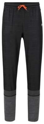 BOSS Hugo Slim-fit pants in block-stripe moisture-wicking fabric M Black