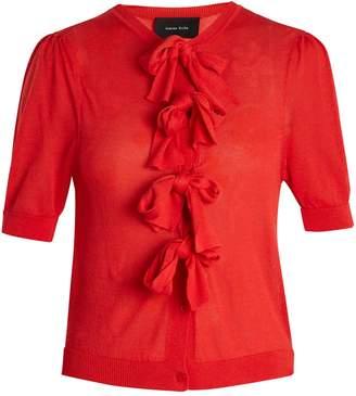 Simone Rocha Bow-embellished short-sleeved cardigan