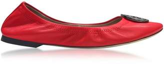 Tory Burch Liana Exotic Red Leather Ballet Flats
