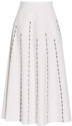 Bottega Veneta Embroidered Cotton Skirt