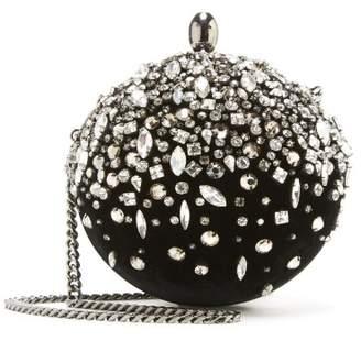 Oscar de la Renta Crystal and Velvet Billiard Bag