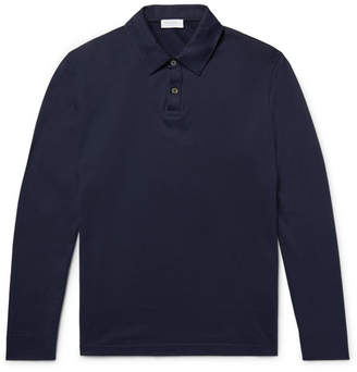 Sunspel Cotton-Jersey Polo Shirt - Blue