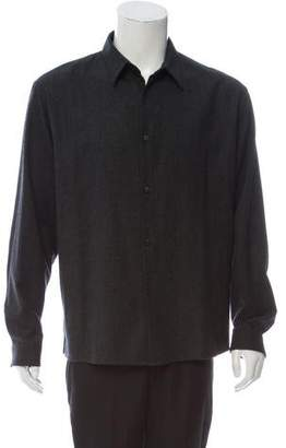 Neil Barrett Wool Button-Up Shirt