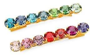 Swarovski Lelet Women's Rainbow Spectrum Crystal Bobbi Pin 2-Piece Set
